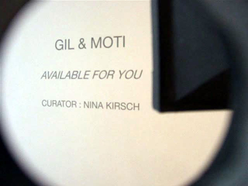 galerie eric dupont, available for you, gil et moti, nina kirsch